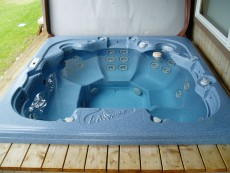 Hot Tub Installed in a Deck